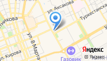 Оренбург на карте