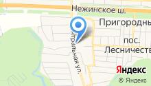 Администрация пос. Пригородный на карте