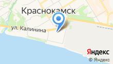 Отдел Военного комиссариата Пермского края по г. Краснокамск на карте