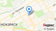 Краснокамский муниципальный фонд поддержки малого предпринимательства, НО на карте