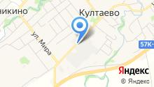Муниципальная пожарная служба Култаевского сельского поселения на карте