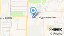 Шиномонтажная мастерская на ул. Нуриманова на карте