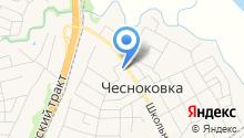 Почтовое отделение с. Чесноковка на карте
