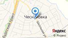 Чесноковский сельский совет на карте