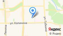 Продуктовый магазин на ул. Калинина на карте