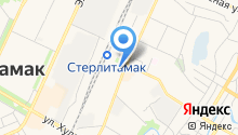 Стерлитамак-Уфа на карте