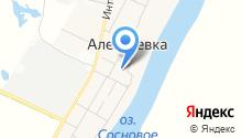 Алексеевское на карте