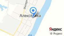Спасский храм с. Алексеевка на карте