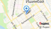 Ишимбайская чулочная фабрика, ЗАО на карте