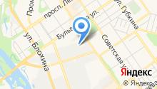 Енисей, садово-парковый комплекс на карте