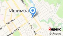 Инзер на карте