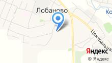 Лобановский детский сад на карте