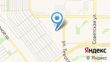 Автостоянка на ул. Тевосяна на карте