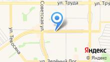Автостоянка на ул. 50 лет Магнитки на карте