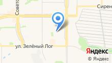 Автостоянка на проспекте Карла Маркса на карте