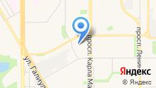 Автостоянка на ул. Советской Армии на карте