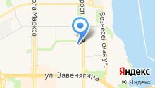 Автостоянка на проспекте Ленина на карте