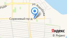 Автостоянка на Сиреневом проезде на карте
