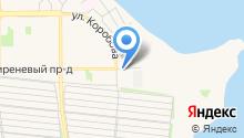 Автостоянка на ул. Коробова на карте