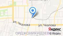 Автостоянка на ул. Чайковского на карте