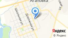 Агаповское на карте