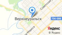 Комплексный центр социального обслуживания населения Верхнеуральского района на карте