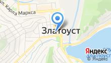 Златоустовский часовой завод на карте