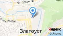 Гражданская защита Златоустовского городского округа, МКУ на карте