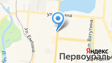 Администрация Западного управленческого округа Свердловской области на карте