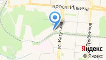 Парковая на карте