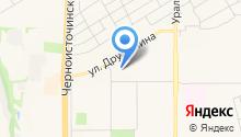Автомойка на ул. Дружинина на карте