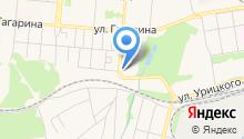Автостоянка на ул. Трубников на карте