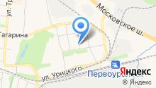 Сеть магазинов продуктов на карте