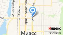 Архитектурно-планировочный центр Миасского городского округа, МУП на карте