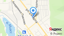 Золотая Долина на карте
