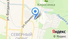 Автостоянка на ул. Вернадского на карте