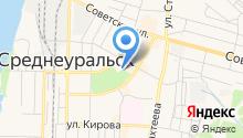 Управление социальной политики по г. Верхняя Пышма и г. Среднеуральску на карте