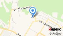 Автостоянка на ул. Уральских Рабочих на карте