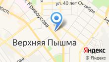 Среднеуральская на карте