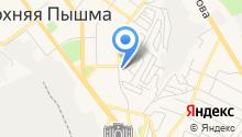 Кирпичный на Козицына на карте