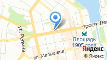 Свердловский мужской хоровой колледж на карте