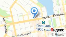 Главное управление МВД России по Свердловской области на карте