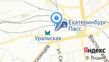 Управление на транспорте МВД РФ по Уральскому федеральному округу на карте