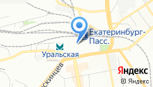 На вокзале на карте
