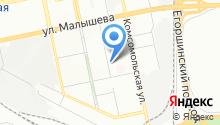 Шера на карте