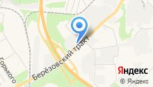Автобан-Березовский на карте