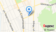 Автостоянка на ул. Косых на карте