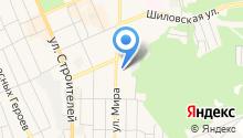 Автостоянка на ул. Мира (г. Березовский) на карте