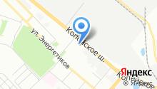 Волга Газель на карте