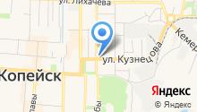 Служба уборки подъездов Копейского городского округа на карте